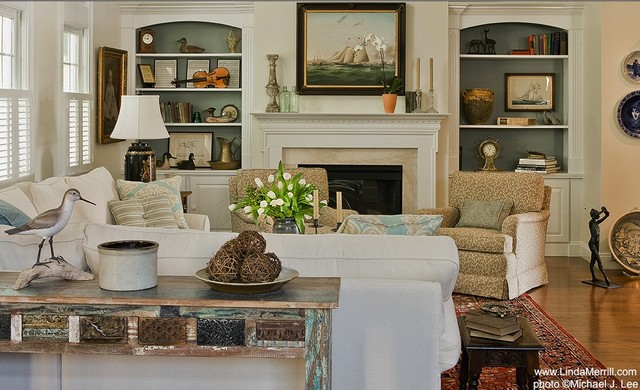 Casual Living Room - Traditional - Living Room - Boston - by Linda - casual living rooms