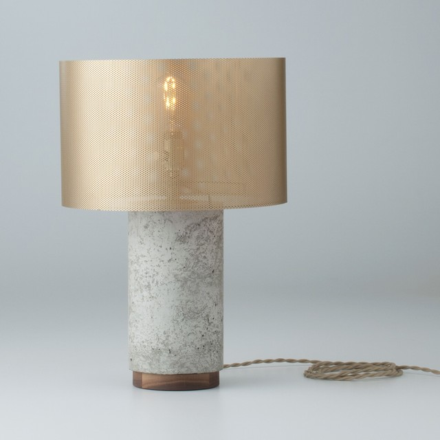 Tischlampe Beton Bryant Concrete Table & Desk Lamp With Metal Shade