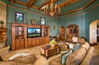 Family/Living Room with Wood Trim Moulding