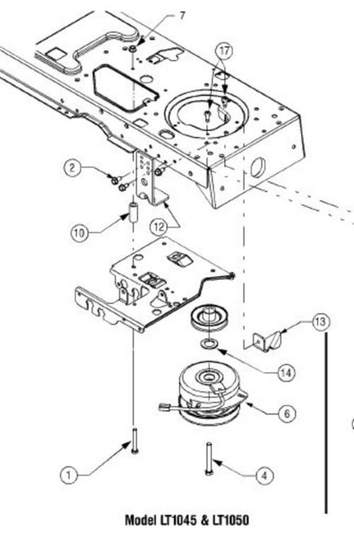 cub cadet pto belt diagram