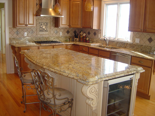 Yellow River Granite Kitchen Project Traditional
