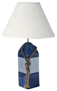 Buoy Lamp- Blue/White/Blue - Beach Style - Table Lamps ...