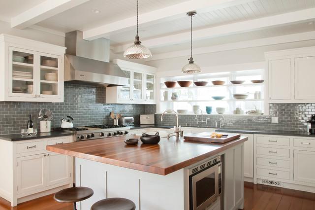 Santa monica beach house beach style kitchen los