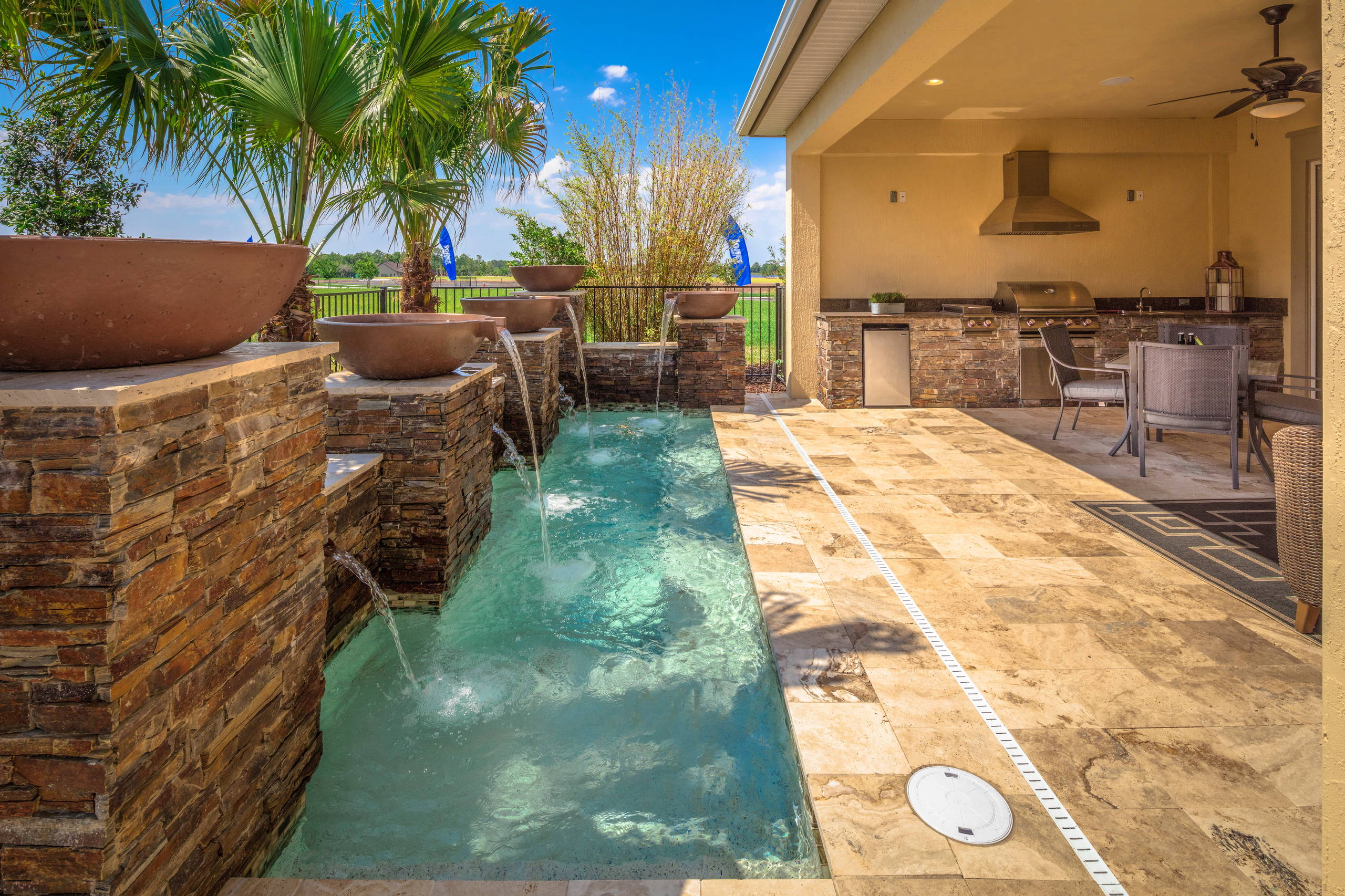 75 Beautiful Transitional Tile Pool Pictures Ideas Houzz - Piscinas Desire