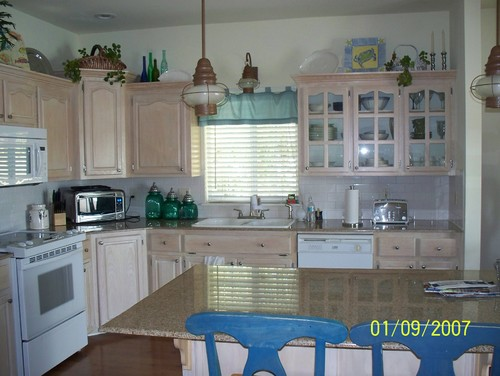 "Pickled Cabinets ""help!!!"" Need Help With Kitchen Cabinets! Pickled! No"