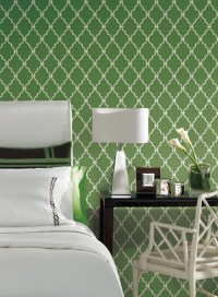 Trellis Wallpaper In Green And Ivory By Antonina Vella ...