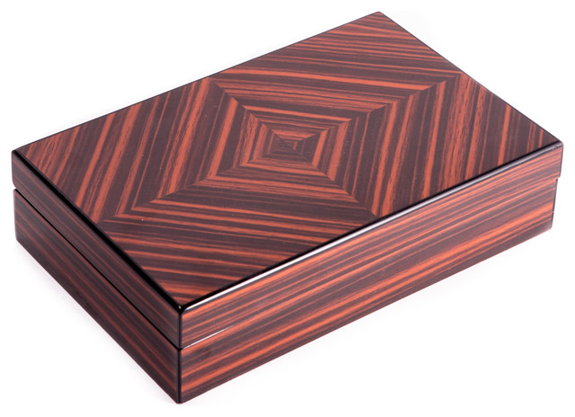 Lacquered Wood Box Traditional Decorative Boxes By