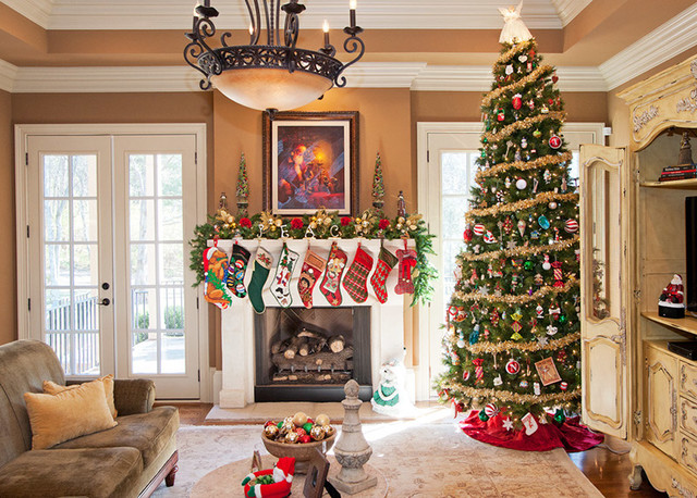 Christmas Decorating - 1 - Traditional - Family Room - Nashville - christmas room decorations