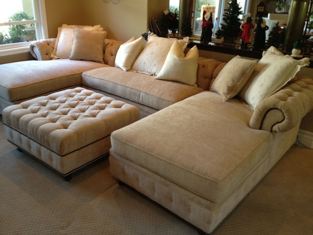 OTTOMAN STYLES - ANY SIZE ANY FABRIC - Transitional - Living Room - living room ottoman