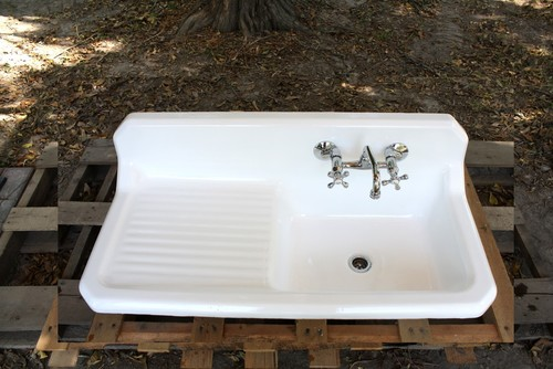 Antique Farmhouse Sink Drainboard Its Sixth Vintage