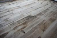 Reclaimed wood floor - Eclectic - Living Room - Denver ...