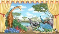 Safari Mural - Tropical - Nursery Decor - New York - by ...