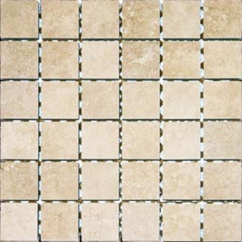 2x2 Glazed Travertino Beige Porcelain Tile Cream Beige