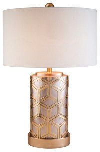 Rose Gold Bamboo Weave Table Lamp - Contemporary ...
