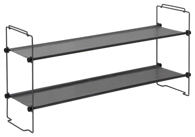 Tidy Living Stackable Shoe Rack Contemporary Shoe