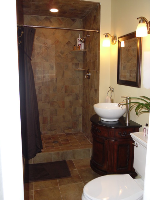 Office Sofas And Chairs Small Master Bath Remodel - Traditional - Bathroom - Newark