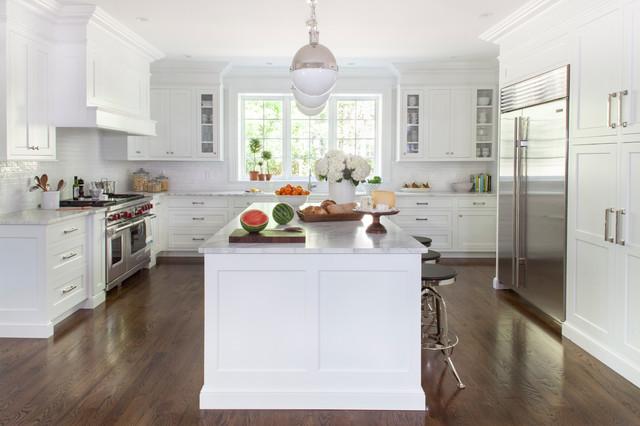 White Transitional Kitchen - Transitional - Kitchen - New York - transitional kitchen design