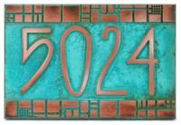 "The Batchelder Tile Address Plaque 12"" x 8"" in Copper ..."