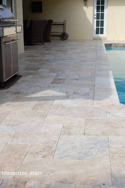 Houzz Dining Room Lighting Country Classic Travertine Pavers - Natural Stone Pool Tiles