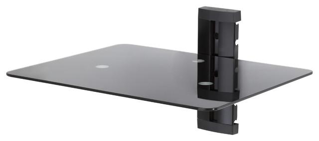 Wall Mounted Av Component Shelving System 1 Shelf Black