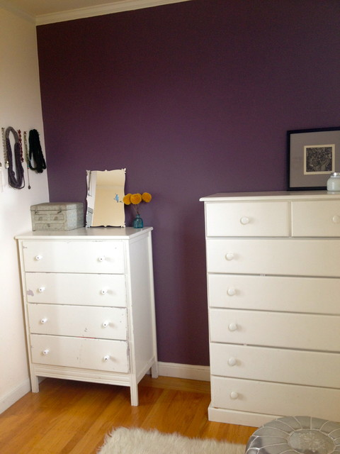 Houzz Dining Room Lighting Eggplant Accent Wall - Eclectic - San Francisco