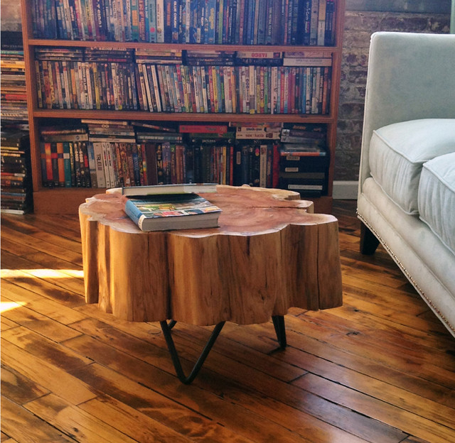 Stump tables - Contemporary - Living Room - New York - by Custom - living room furniture nyc