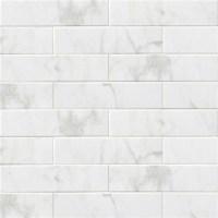 "4""x16"" Subway Backsplash Tile Ceramic, Glossy White ..."