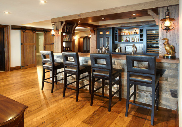 The Cottage Rustic Home Bar Toronto By Parkyn Design - Home Bar Furniture Toronto