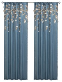 Flower Drops Window Curtain - Curtains - by Lush Decor