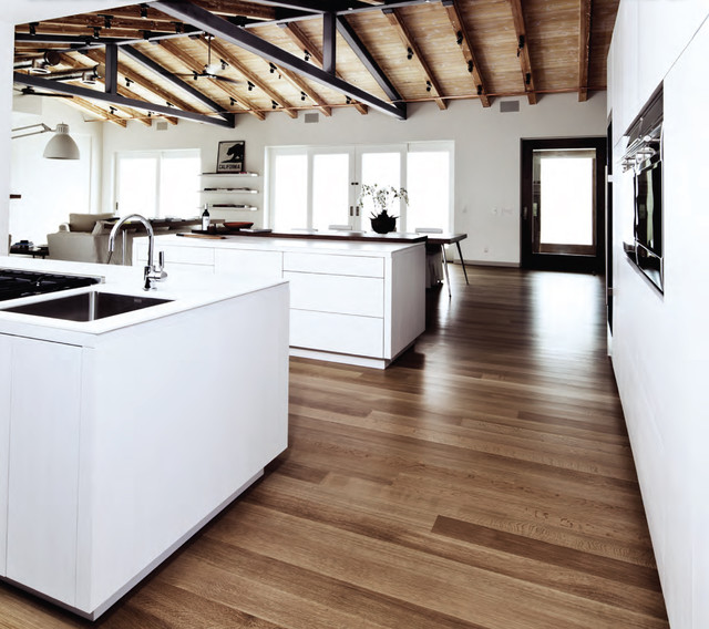 Custom Quarter Sawn Oak Kitchen Cabinets Carbon Mesa - Contemporary - Kitchen - Los Angeles - By