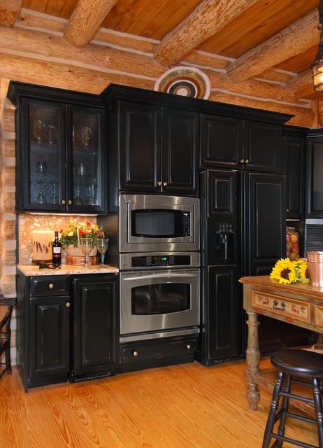 Rustic Kitchen Backsplash Ideas Rustic Log Cabin Kitchen