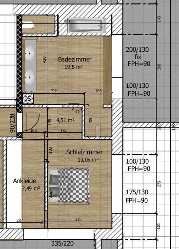 Anordnung bzw Grundriss Schlafzimmer\/Bad\/Ankleide??? - badezimmer grundriss