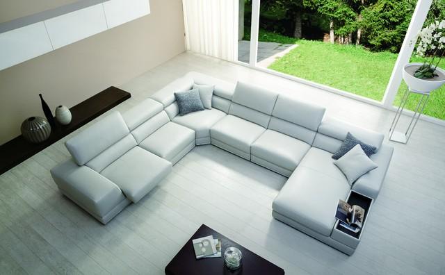 Stanley White Leather Sofa - Modern - Living Room - Miami - by El - el dorado living room sets