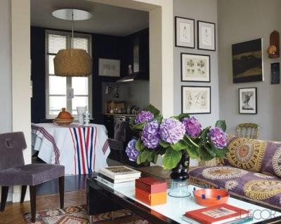 grey and purple - purple and grey living room