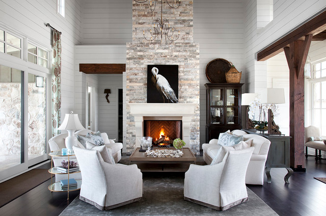 Southern Living - Traditional - Family Room - Austin - by Heather - southern living living rooms