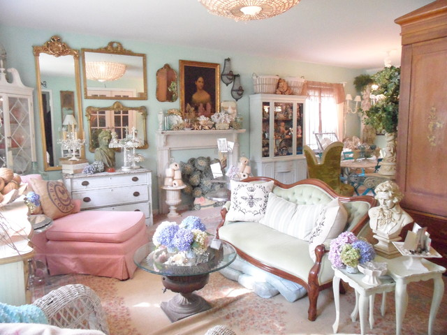 Frenchy \ Bright Living Room - Shabby-chic Style - Living Room - country chic living room