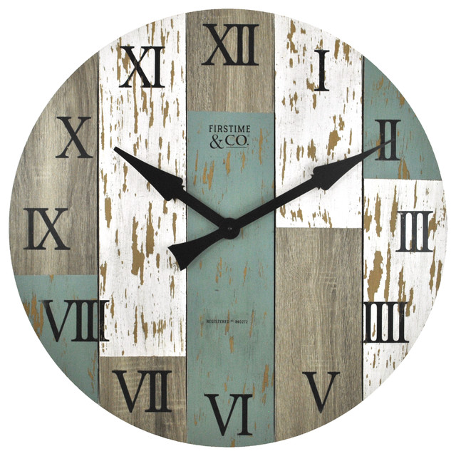Oversized Timberworks Wall Clock