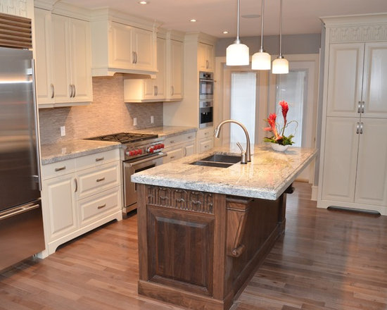 kitchen design ideas remodels photos white cabinets shaker inspiration small transitional single wall eat kitchen