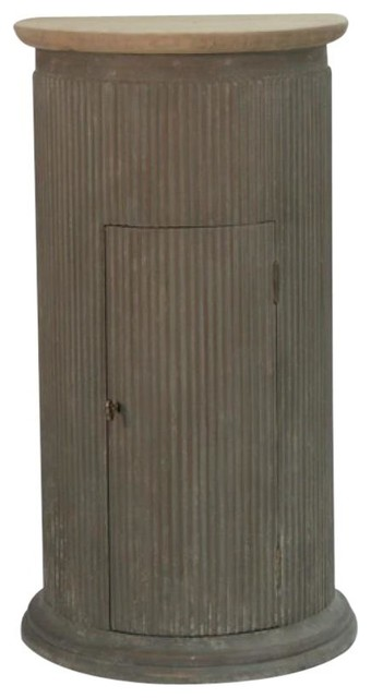Fluted Poplar Pine Pedestal Plant Stand - Traditional - Plant Stands