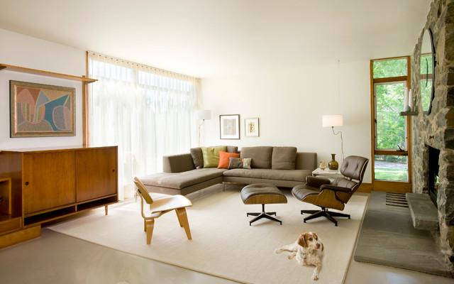 Midcentury Update - Modern - Living Room - Boston - by Diane Burcz - mid century modern living room