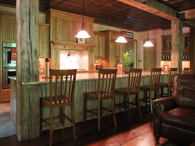 Pecky Cypress Kitchen Cabinets Cypress Kitchen - Traditional - Kitchen - New Orleans - By