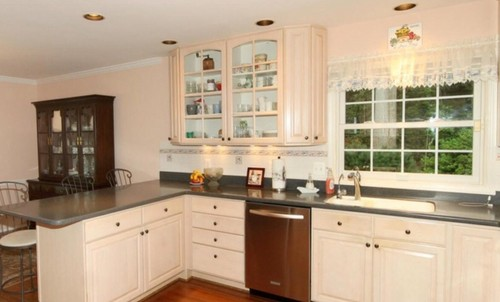 Problems With Pickled Kitchen Cabinets Wall Paint Color To Neutralize Pink/apricot.