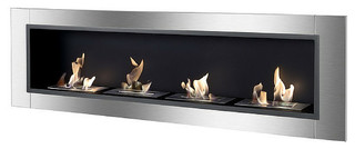 Ignis Accalia Built In Wall Mounted Fireplace Contemporary Indoor Fireplaces By Modern Blaze