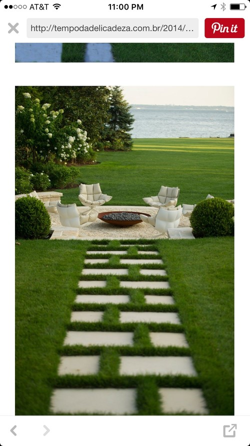 Has Anyone Put Pavers In Grass Like This??