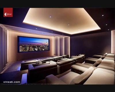 Exquisite New Media Room featuring CINEAK Strato Seats ...