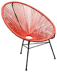 Acapulco Outdoor Patio Chair, Atomic Tangerine ...
