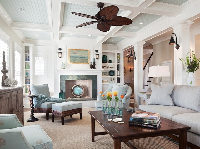 South Surf Road - Beach Style - Living Room - New York - by - beach style living room