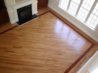Hardwood With Borders Living Room Charlotte By