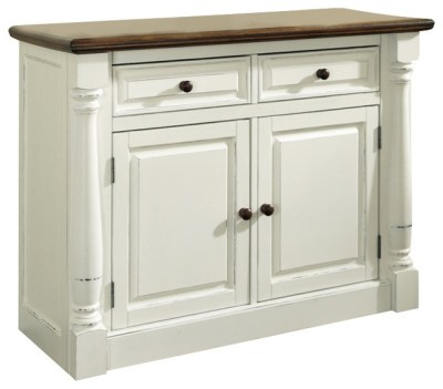 Home Styles Monarch Buffet in White and Oak Finish ...