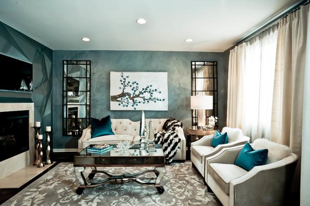 HGTV Showhouse Showdown TV show - Contemporary - Living Room - Los - hgtv living room ideas